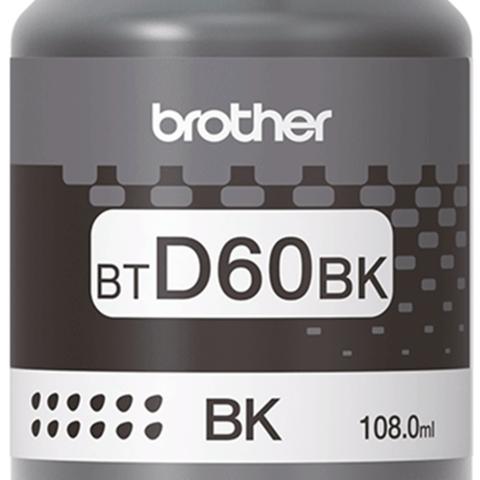 Brother BT-D60BK: оригинальная бутылка с черными чернилами