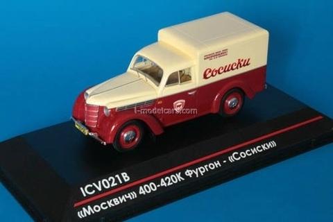 Moskvich-400-420K Van Sausage Mikoyan Meat Plant 1:43 ICV021B