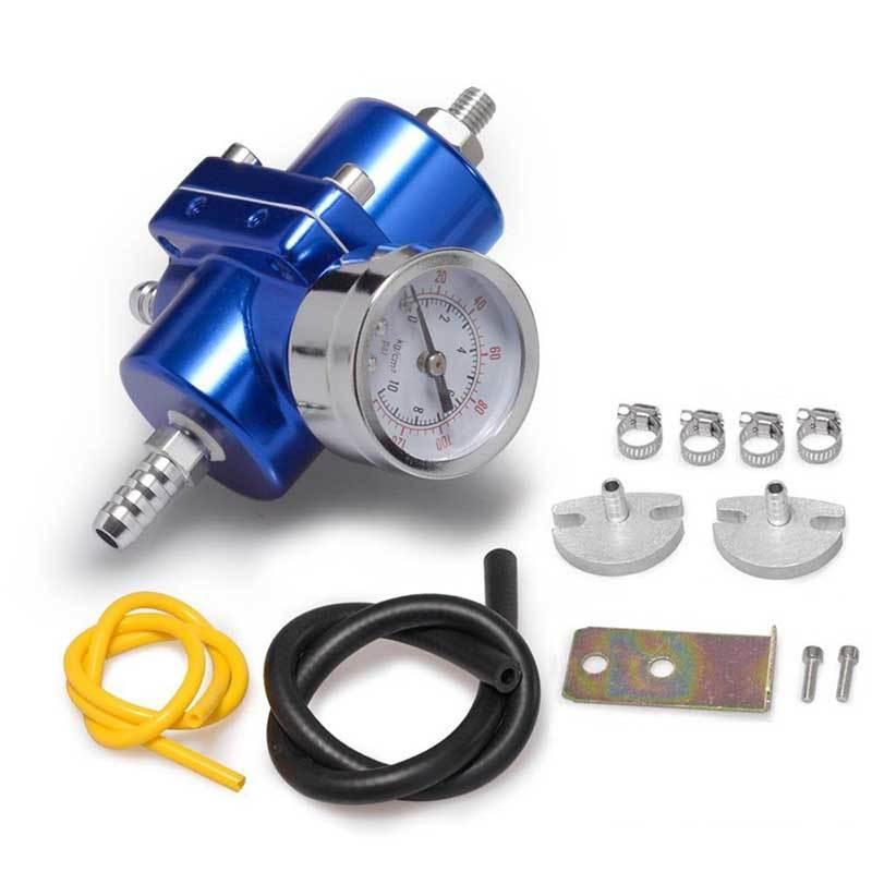 Универсальный регулятор топлива с манометром синего цвета