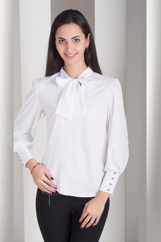 Маркиза. Красивая блуза с бантом. Белый
