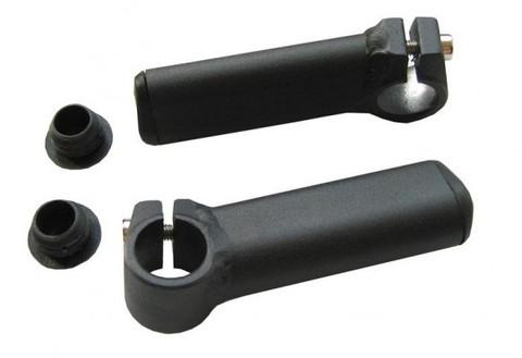 Рога алюминиевые, короткие, черные