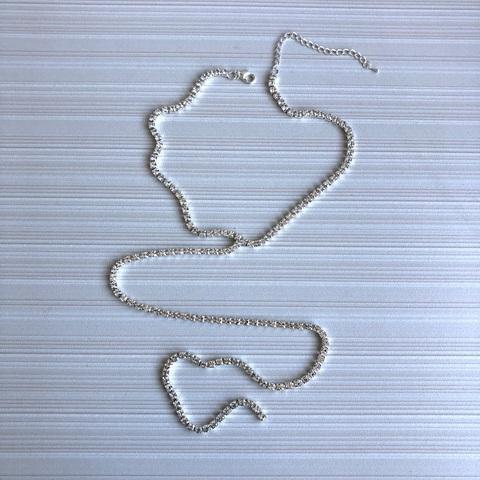 Колье Кламина, серебряный цвет