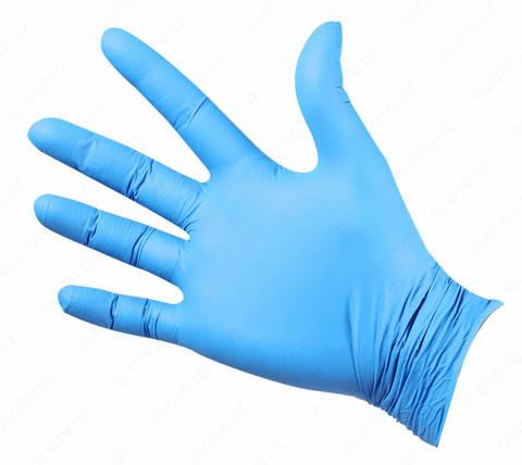 Перчатки нитриловые UNEX 100 шт, L, голубые