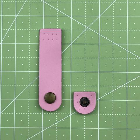 Ремешок для кошелька на кнопке 7,5 см. (Светло-розовый)