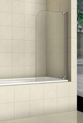 Стеклянная шторка на ванну Welt-Wasser WW 100T1 80