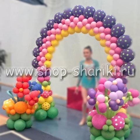 арка из шаров на награждение