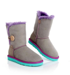 UGG Bailey Button Grey-Aqua