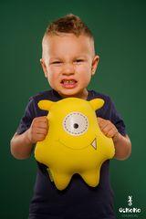 Подушка-игрушка антистресс «Монстрик желтый» 2