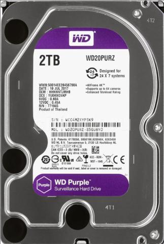 Жесткий диск WD Purple [WD20PURZ] 2 ТБ