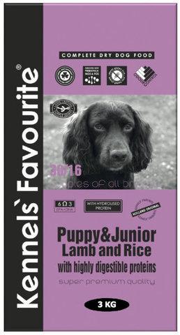 Kennels` Favourite Puppy & Junior Ягненок и Рис 3 кг.