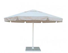 Зонт Митек Ø 3,5 м с воланом (стальной каркас с подставкой, стойка 50мм, 8 спиц 30х15мм, тент OXF 300D)