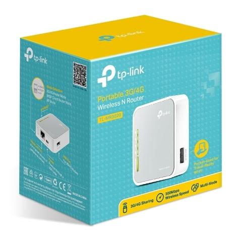 TP-Link TL-MR3020 - N300 3G/4G Портативный Wi-Fi роутер