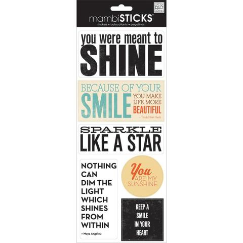 Стикеры  mambi Specialty Stickers You Were Meant To Shine 13х30 см