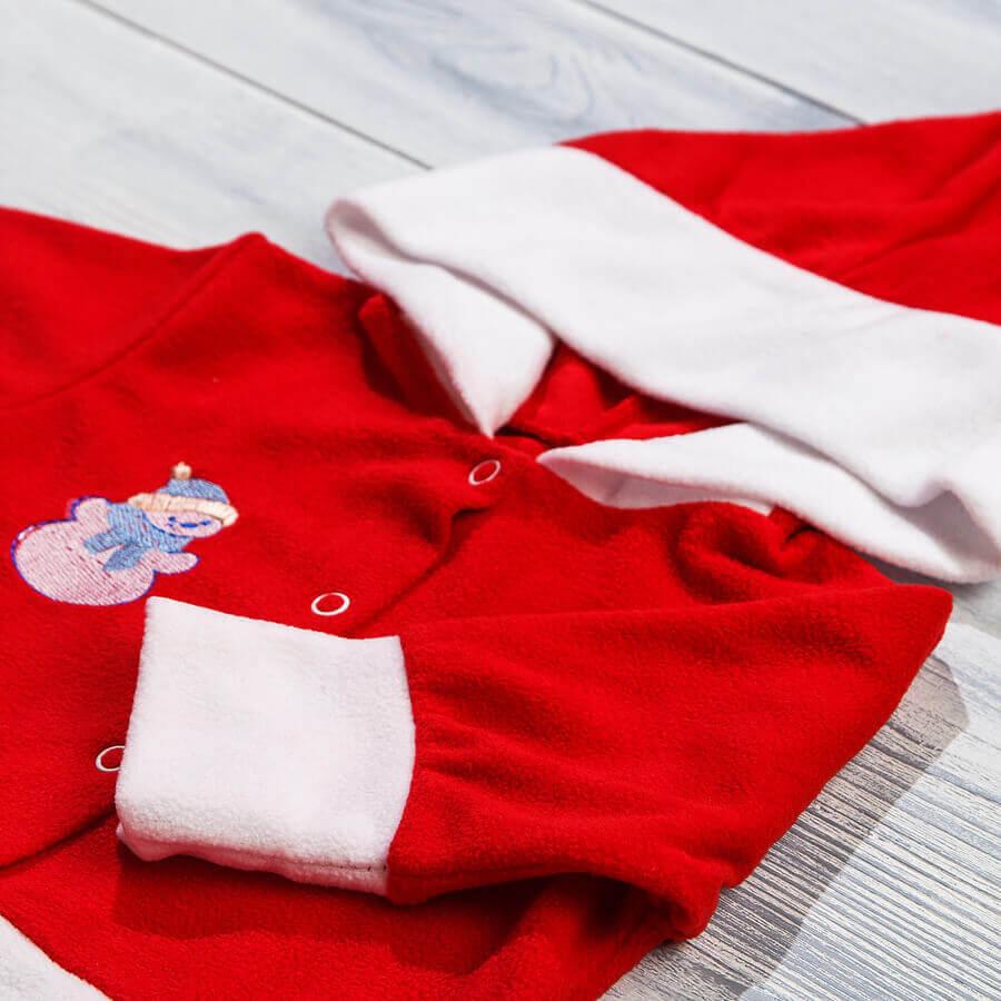 Новогодний комбинезон из флиса для новорожденных