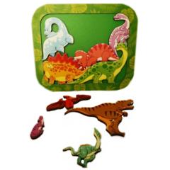 Деревянный пазл Зоопазл Динозавры