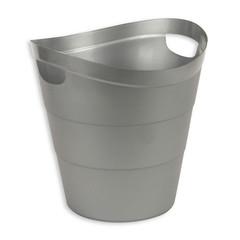 Корзина для мусора с ручками Uniplast 12 л пластик серая (29х30 см)