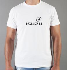 Футболка с принтом Исузу (Isuzu) белая 001