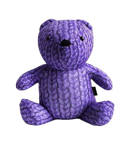 Подушка-игрушка «Вязаный Мишка», фиолетовый-2