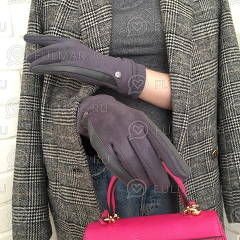 Женские перчатки Touch для сенсорных экранов на указательном пальце Классика (цвет: мокрый асфальт)