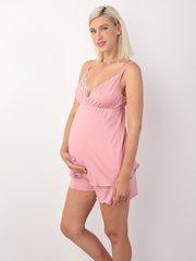 Евромама. Пижама майка и шорты из вискозы, темно-розовый вид 1