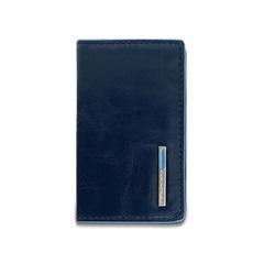 Чехол для кредитных/визитных карт Piquadro Blue Square, синий, 10x6x1,5 см