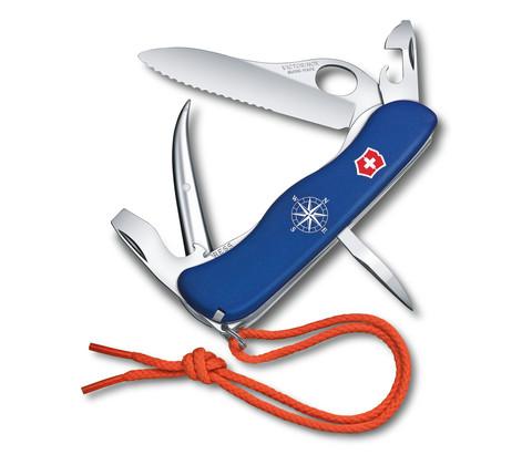 Складной нож Victorinox Skipper Pro, серрейторное лезвие с петлёй для открывания одной рукой (0.8503.2MW) - Wenger-Victorinox.Ru