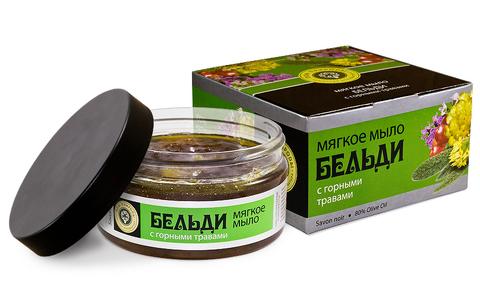 Мягкое мыло БЕЛЬДИ с горными травами для поднятия иммунитета кожи