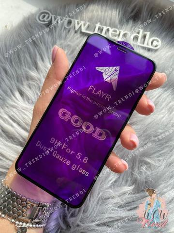 Стекло защитное 5D iPhone XS Max 0,18 Flayr /black/