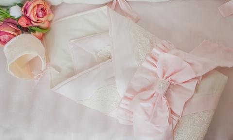 Одеяло - конверт на выписку Экрю