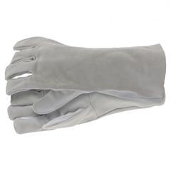 Перчатки спилковые с манжетой для садовых и строительных работ, размер XL Сибртех