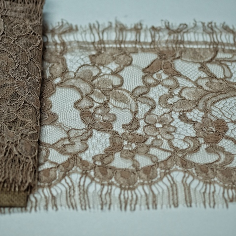 Кружево SH Chantilly Cotton Taupe 171010-V