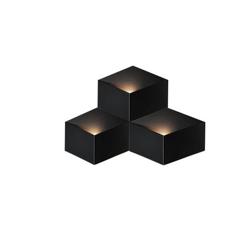 Настенный светильник копия Fold 4202 by Vibia (3 плафона, черный)