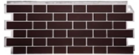 Фасадная панель Fineber Кирпич облицовочный Britt коричневый 1130х463 мм