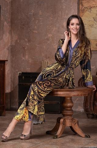 Длинный халат Mia Amore 3499 (70% натуральный шелк)