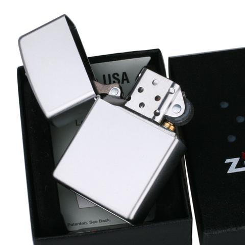 Зажигалка ZIPPO 205 Satin Chrome серебристая