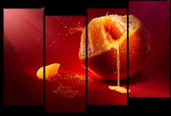 """Модульная картина """"Сочный апельсин"""""""