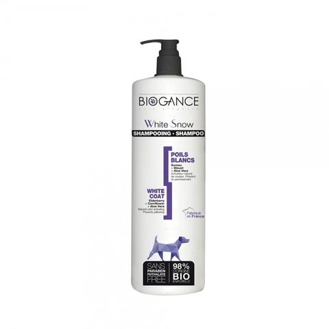 Натуральный BIO шампунь для собак светлых окрасов Biogance White Snow 1000 мл