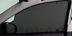 Каркасные автошторки на магнитах для Daewoo Gentra 1 (2005-2011) Хетчбек. Комплект на передние двери с вырезами под курение с 2 сторон