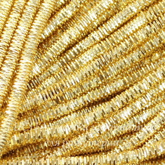 Канитель для вышивания Трунцал 4-гранный 3 мм (цвет - светлое золото)