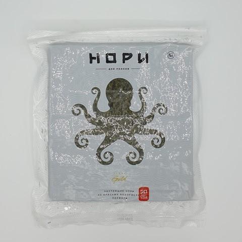 Красные водоросли Порфира жареные 50 лист НОРИ GOLD, 125 гр