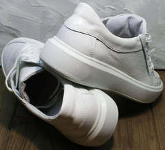 Осенние кожаные кроссовки женские Maria Sonet 274k All White