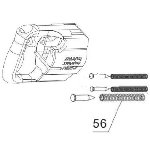 Пружина ствола для монтажного пистолета ПЦ-84,GFT5 (56)