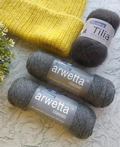 Набор пряжи для шапки Arwetta Classic и Filcolana Tilia купить