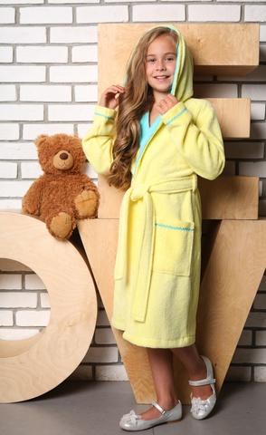 Mimi (лимон)  халат для девочки подростково-детский цвет  Five Wien Турция