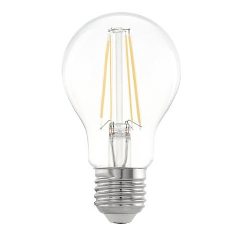 Лампа LED филаментная прозрачная Eglo CLEAR LM-LED-E27 6,5W 810Lm 2700K A60 11534