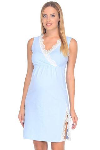 Ночная сорочка для беременных и кормящих 09912 голубой