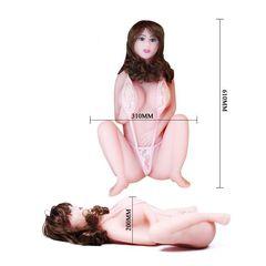 Мастурбатор в форме женского тела с вибрацией, ротацией и голосом