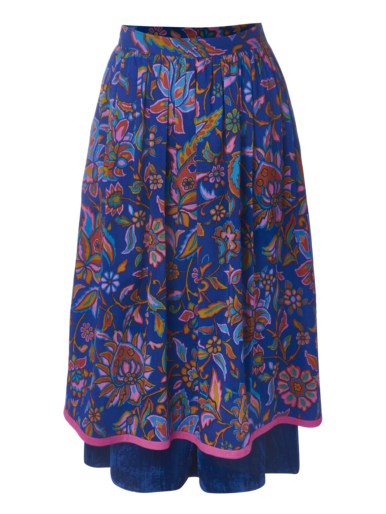 Пышная юбка-миди на подкладе YSL 1970-е