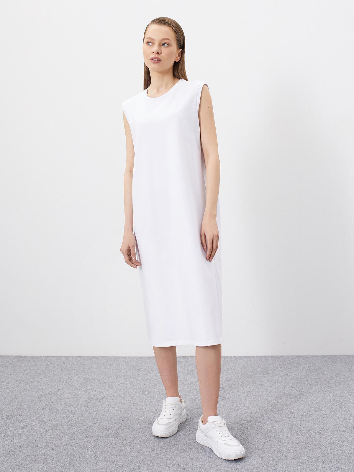 Платье-футболка Nat без рукавов, Белый