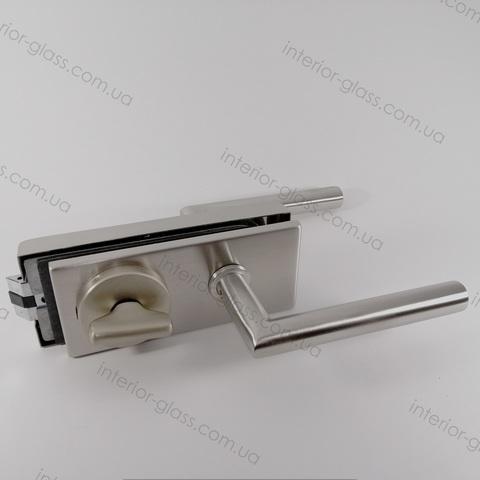 Замок WC с ручкой и поворотником ST-106SSS/WC универсальный